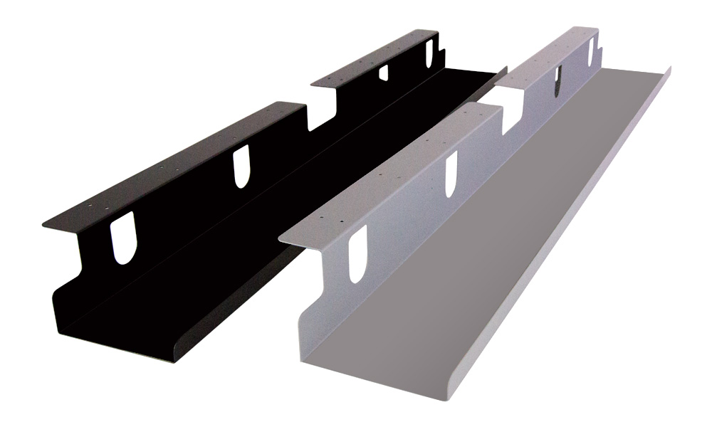 GeekDesk® Cord Trays in Black and Silver
